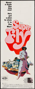 "Movie Posters:Blaxploitation, Super Fly (Warner Brothers, 1972). Insert (14"" X 36"").Blaxploitation.. ..."