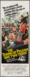 """Movie Posters:Crime, The Taking of Pelham One Two Three (United Artists, 1974). Insert (14"""" X 36""""). Crime.. ..."""