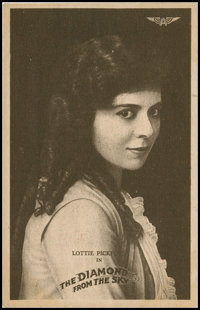 "The Diamond from the Sky (Mutual, 1915). Lobby Cards (10) (8"" X 10"") and Promo Photo Post Card (3.5' X 5.5&quo..."