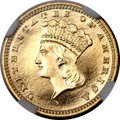 Proof Gold Dollars, 1883 G$1 PR65 Cameo NGC. CAC....