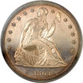 Proof Seated Dollars, 1863 $1 PR63 Cameo PCGS. CAC....