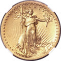 High Relief Double Eagles, 1907 $20 High Relief, Wire Rim -- Improperly Cleaned -- NGC Details. Unc....