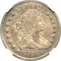 Early Dollars, 1796 $1 Small Date, Small Letters AU55 NGC. B-1, BB-66, R.4....