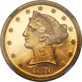 Proof Liberty Half Eagles, 1876 $5 PR65 Cameo NGC....