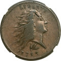 Large Cents, 1793 1C Wreath Cent, Lettered Edge VF30 NGC. S-11c, B-16c, LowR.3....