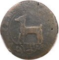 Colonials, 1739 COPPER Higley Copper, Broad Axe -- Damage or Tooling -- PCGSGenuine. Fine. Friedus 3.2-D, W-8265, R.7....