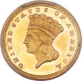 Gold Dollars, 1870 G$1 MS66 PCGS....