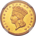 Gold Dollars, 1872 G$1 MS68 NGC....