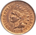 Indian Cents, 1877 1C MS64 Red PCGS....