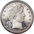 Proof Barber Quarters, 1892 25C PR67 Cameo PCGS. CAC....