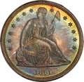 Proof Seated Dollars, 1861 $1 PR66 PCGS. CAC....