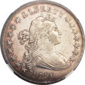 Early Dollars, 1796 $1 Small Date, Large Letters AU53 NGC. B-4, BB-61, R.3....