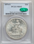 Trade Dollars, 1876-S T$1 MS62 PCGS. CAC....