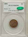 Indian Cents: , 1894 1C MS65 Brown PCGS. CAC. PCGS Population (10/0). NGC Census:(28/4). Mintage: 16,752,132. Numismedia Wsl. Price for pr...