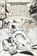 Original Comic Art:Covers, Gene Colan and Vince Colletta Captain Marvel #3 Super Skrull Cover Original Art (Marvel, 1968)....