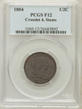 Half Cents: , 1804 1/2 C Crosslet 4, Stems Fine 12 PCGS. PCGS Population(10/284). Numismedia Wsl. Price for problem ...