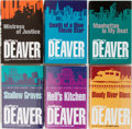 Books:Mystery & Detective Fiction, Jeffery Deaver. Group of Six Books, Three Signed. Hodder &Stoughton. Hell's Kitchen, Bloody River Blues, and ShallowGrav... (Total: 6 Items)