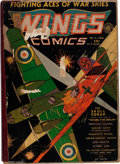 Golden Age (1938-1955):War, Wings Comics #1-13 Bound Volume (Fiction House, 1940-41)....