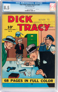 Golden Age (1938-1955):Crime, Four Color (Series One) #21 Dick Tracy - File Copy (Dell, 1942) CGC VF+ 8.5 Cream to off-white pages....