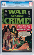 Golden Age (1938-1955):Crime, War Against Crime #11 Gaines File pedigree 7/11 (EC, 1950) CGC NM/MT 9.8 Off-white to white pages....