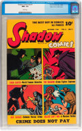 Golden Age (1938-1955):Crime, Shadow Comics V6#7 Mile High pedigree (Street & Smith, 1946) CGC NM+ 9.6 White pages....