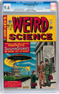 Golden Age (1938-1955):Science Fiction, Weird Science #13 (#2) Gaines File pedigree (EC, 1950) CGC NM+ 9.6Off-white pages....