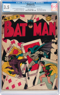 Batman #11 (DC, 1942) CGC VG- 3.5 Off-white to white pages