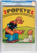 Platinum Age (1897-1937):Miscellaneous, Popeye Plays Nursemaid to Sweet Pea #nn File Copy (Whitman, 1937)CGC VF 8.0 Cream to off-white pages....