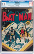 Golden Age (1938-1955):Superhero, Batman #10 (DC, 1942) CGC VG/FN 5.0 Off-white to white pages....