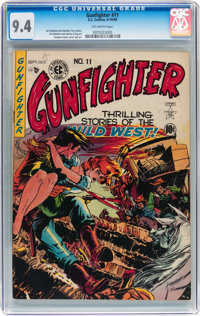 Gunfighter #11 (EC, 1949) CGC NM 9.4 Off-white pages
