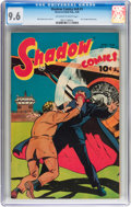 Golden Age (1938-1955):Crime, Shadow Comics V9#1 (Street & Smith, 1949) CGC NM+ 9.6 Off-white to white pages....