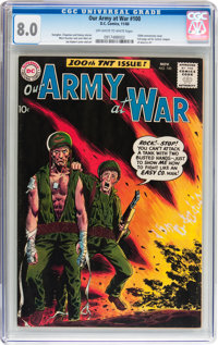 Our Army at War #100 (DC, 1960) CGC VF 8.0 Off-white to white pages
