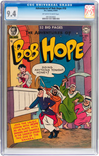The Adventures of Bob Hope #10 (DC, 1951) CGC NM 9.4 Off-white to white pages