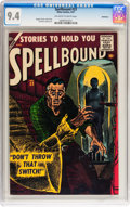 Silver Age (1956-1969):Horror, Spellbound #33 Bethlehem pedigree (Atlas, 1957) CGC NM 9.4Off-white to white pages....
