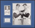 Baseball Collectibles:Others, Roger Maris Signed Postcard Display....