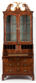 Furniture , A SECRETARY BOOKCASE. 19th century. 92 x 37 x 20 inches (233.7 x 94.0 x 50.8 cm). ... (Total: 2 Items)