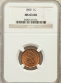 Indian Cents: , 1895 1C MS63 Red and Brown NGC. NGC Census: (54/257). PCGSPopulation (120/241). Mintage: 38,343,636. Numismedia Wsl. Price...