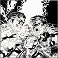 Original Comic Art:Illustrations, Darryl Banks and Terry Austin Wizard the Comics Magazine Hal Jordan vs. Kyle Rayner Green Lantern Illu...