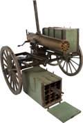 Arms Accessories:Tools, Very Rare U.S. Model 1875 Colt Gatling Gun on Original Naval Boarding Carriage Delivered to U.S. Navy February 24, 1881....