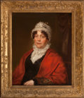 Fine Art - Painting, European, BRITISH SCHOOL (19th Century). Portrait of Mrs. John BargeIrwell. Oil on canvas. 25 x 30 inches (63.5 x 76.2 cm).Inscr...
