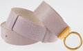 Luxury Accessories:Accessories, Judith Leiber Pink Lizard Belt with Gold Buckle. ...