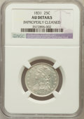 Bust Quarters: , 1831 25C Small Letters -- Improperly Cleaned -- NGC Details. AU.NGC Census: (24/375). PCGS Population (36/282). Mintage: 3...