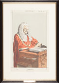 Fine Art - Work on Paper:Print, GROUP OF THREE VANITY FAIR JUDGES PRINTS. 19th century. Chromolithographs. 18-1/4 x 13 inches (46.4 x 33.0 cm) (largest). ... (Total: 3 Items)