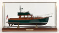 Maritime:Decorative Art, A CUSTOM DAVID SPY SCALE SHIP MODEL OF THE LAUNCH IMPATIENCE.American Marine Model Gallery, Salem, Massachusetts. Helensbur...