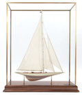 Maritime:Decorative Art, SCALE SHIP MODEL OF THE AMERICA'S CUP YACHT RAINBOW . 39 x 30-1/2 x10-1/2 inches (99.1 x 77.5 x 26.7 cm). ...