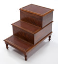 Furniture, A WILLIAM IV MAHOGANY BED STEP COMMODE . ca. 1835. 23 x 19 x 27-1/2 inches (58.4 x 48.3 x 69.9 cm). Converts to a commode. S...