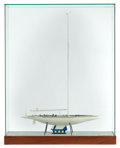 Maritime:Decorative Art, SCALE MODEL OF THE AMERICA'S CUP YACHT AUSTRALIA II . 42 x 33 x10-1/2 inches (106.7 x 83.8 x 26.7 cm). ...