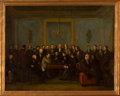 Fine Art - Painting, American, AMERICAN SCHOOL (19th Century). Chess Match. Oil on canvas.28 x 36 inches (71.1 x 91.4 cm). ...