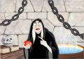 Animation Art:Production Cel, Snow White and the Seven Dwarfs The Old Hag Production Celwith Presentation Background (Walt Disney, 1937)....