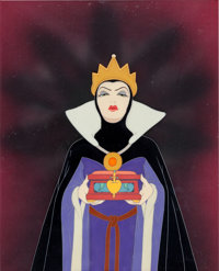 Snow White and the Seven Dwarfs The Evil Queen Production Cel with Courvoisier Background (Walt Disney, 1937)